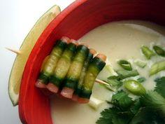 CHILI & VANILIA: Thai gazpacho á la jgvmtbdchv Gazpacho, Chili, What To Cook, Asparagus, Vegetables, Cooking, Food, Kitchen, Studs