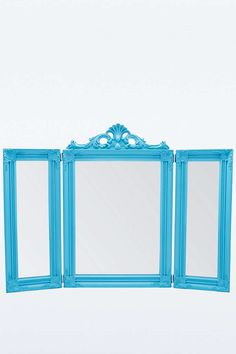 Ornate Mirror in Blue - Urban Outfitters
