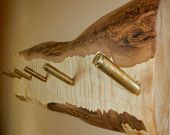 Curly Maple Coat Rack, rustic, wall-mount, 30.06 brass bullet casings used for the 6 coat pegs. Beautful piece of maple.
