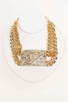 Rihanna Does Statement Necklace - Gold
