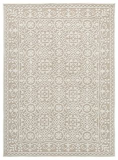 Signature Design Beana Medium Rug in Ivory/Beige - Ashley Furniture for casual elegance in light, neutral colors for the floor? Flower power adorns with this medium area rug. Its intricate trellis pattern repeats with flowers, leaves and so Nourison Rugs, Medium Rugs, Trellis Pattern, Large Area Rugs, At Home Store, Signature Design, Cottage Chic, Rug Making, Flower Power