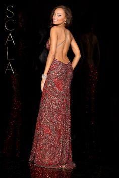 #SCALA Spring 2016 style 48553 Lead/Red! #scalausa #spring2016 #prom2016 #gown #promdress #eveningwear #dress #sequins #specialoccasion #prom2k16 www.scalausa.com