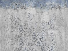 Bathroom wallpaper with floral pattern EVANESCENCE by Wall&decò