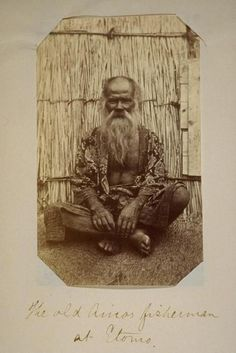 Old Ainu fisherman at Etomo, ca. 1872