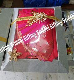 Wedding Packaging, Trousseau Packing, Packing Ideas, Indian Wedding Decorations, Wedding Gifts, Saree, Weddings, Tableware, Design