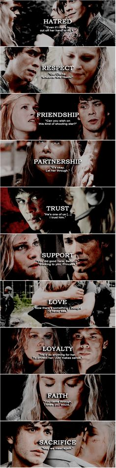 Bellarke Evolution || The 100 || Clarke Griffin and Bellamy Blake || Bob Morley and Eliza Jane Taylor