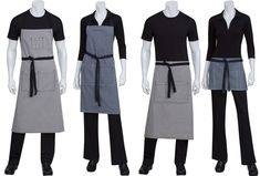 contrast/apron, cut more closely to body