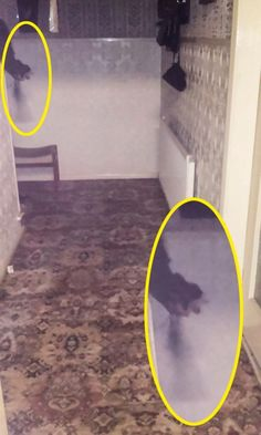 Claire Cowell took the chilling picture inside 30 East Drive in Pontefract, West Yorkshire – one of the UK's most haunted homes. The paranormal investigator says the picture shows the arm of a ghostly figure in a monk's robe clutching rosary beads, which she believes belongs to the violent poltergeist who terrorises the property's inhabitants.