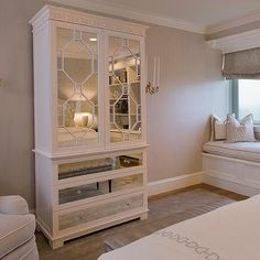Mirrored Armoire, Contemporary, bedroom, Tiffany Eastman Interiors