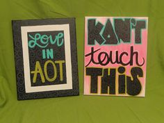 Love in AOT & KDn't Touch This: Neon Pair. $30.00, via Etsy.