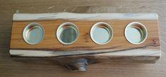 dekorativer Kerzenhalter aus Eibenholz Tray, Candle Holders, Hang In There, Handmade, Dekoration, Trays, Board
