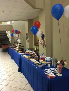 Eagle Scout Court of Honor Eagle Scout Project Ideas, Eagle Scout Ceremony, Fourth Of July Food, Retirement Parties, Cub Scouts, Veterans Day, Dessert Table, Table Decorations, Scouting