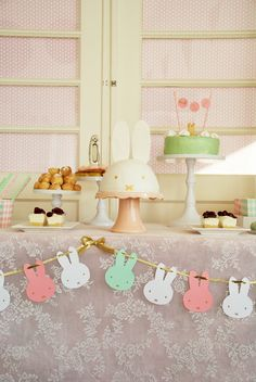 Miffy party , Nijntje sweettable, Karlijne van der Vos