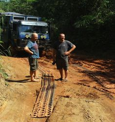 En route from to with Al and Nev, a rutted road but beautiful scenery through the rainforest! Overland Truck, Liberia, Sierra Leone, West Africa, Beautiful Scenery, Railroad Tracks, Adventure, Travel, Viajes