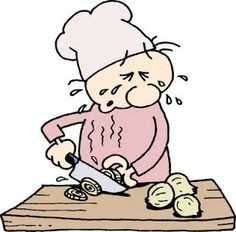 in: Chewing gum or eating sugar cubes while peeling onions will keep you from crying.