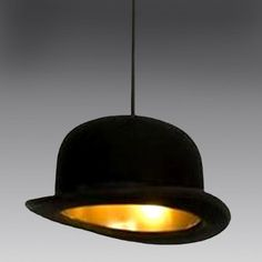 Such a classic British design. The bowler hat pendant light worn by great men of comedy like Charlie Chaplin and John Cleese...