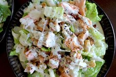Healthy Salmon Caesar Salad recipe