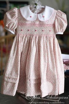 Full view of lovely dress from custom order site on Facebook Exclusive Smocking
