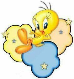 *TWEETY on pastel clouds 90s Cartoons, Disney Cartoons, Tweety Bird Quotes, Good Night Prayer, Pastel Clouds, Comic Book Girl, Mickey Mouse Cartoon, Rock Crafts, Looney Tunes