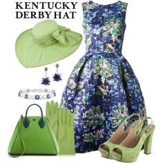 """Derby Hat"" by southerngirl-n-michigan on Polyvore This.is.the.bomb. So what I would love to wear to kelly's graduation from Baylor."
