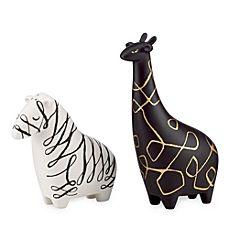 image of kate spade new york Woodland Park Zebra & Giraffe Salt & Pepper Set