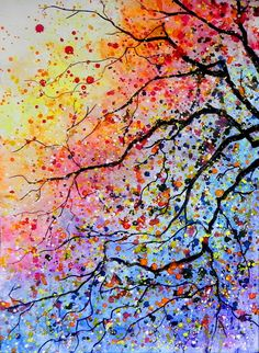 Abstract Art Paintings 72268769007073408 - Foto Source by mamisimone Art Painting Gallery, Painting Art, Painting Pictures, Small Canvas Art, Cool Art Drawings, Acrylic Painting Canvas, Canvas Artwork, Tree Art, Amazing Art