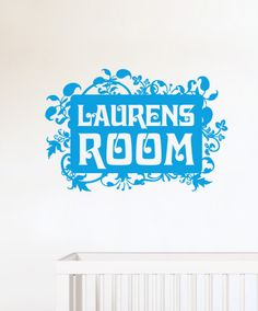 Personalised Name Wall Stickers by namee.co.uk Fantastic over your little ones cot or bed. #wallstickers #walldecals #kidsbedroom