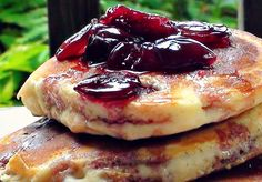 #BlackCherry #Pancakes with Cherry #Maple Syrup!