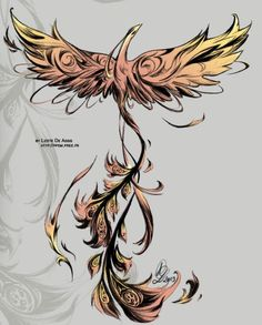 phoenix rising from the ashes tattoo google search. Black Bedroom Furniture Sets. Home Design Ideas