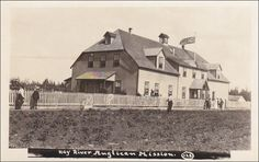 RP: Hay River Anglican Mission , N.W.T. , Canada , 00-10s Mackenzie River, Original Image, Arctic, Postcards, 24 December, Places To Visit, Canada, Island