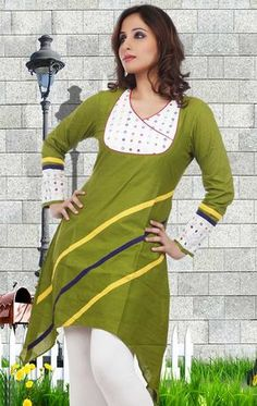 This year the bets kurta design is into existence. Choose your set of kurta or tops into which you feel comfortable in. Trust me you will look cool. Salwar Neck Patterns, Salwar Pattern, Salwar Neck Designs, Churidar Designs, Kurta Neck Design, Neckline Designs, Dress Neck Designs, Blouse Designs, Blouse Patterns