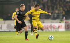 Download wallpapers 4k, Mario Gotze, match, footballers, BVB, Bundesliga, soccer, Borussia Dortmund