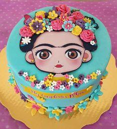 Frida Kahlo cake for fiesta theme party, Birthday, baby shower bridal shower Fondant Baby, Birthday Cake Fondant, Bolo Fondant, Birthday Cupcakes, Fondant Cakes, Cake Decorating Amazing, Frida Kahlo Birthday, Mexican Birthday Parties, Party Fiesta