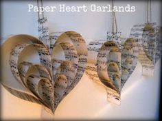 DIY Tutorial: Paper Heart Garlands looks so easy and fun to do.
