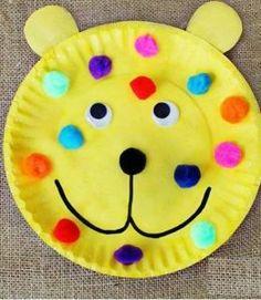 paper plate fun bear crafts