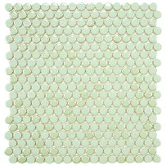 SomerTile 11.25x12-in Posh Penny Round Mint Porcelain Mosaic Tile (Pack of 10) | Overstock.com Shopping - Big Discounts on Somertile Wall Tiles