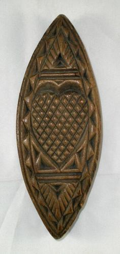 Treen Butter Stamp with Heart Motif... yes this really was used as a butter stamp! ~♥~