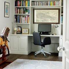 Classic white home-office