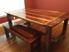 Black Walnut Farmhouse Table | Do It Yourself Home Projects from Ana White