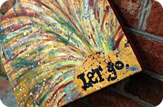 """""""let go"""" 11x14 canvas painting $28"""