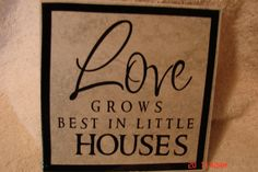 6x6 Love grows in little houses tile by VINYLandBOWS on Etsy, $9.00