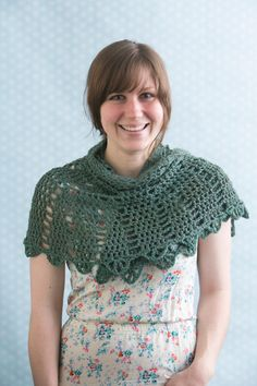 Half Circle Shawl - Inspired by simple geometric shapes, this half circle shawl is great for beginners. Showcase your favorite yarn using this easy pattern as a backdrop. From I Like Crochet's June 2014 issue