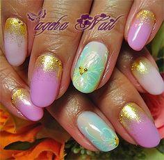 Nail artists ageha nail blog - blue and violet nails