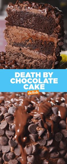 Death By Chocolate Cake will be gone in SECONDS. Get the recipe at Delish.com.