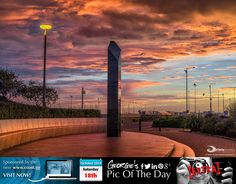 """Such a great start to the day, couldn't resist an extra pic. The Liberation Monument. Reminds me of the monolith in Arthur C. Clarke's 2001: A Space Odyssey - """"My God It's full of stars"""" #LoveGuernsey  http://chrisgeorgephotography.dphoto.com/#/album/cbc2cr/photo/27159168  Picture Ref: 18_10_14B — at St. Peter Port, Guernsey, Channel Islands."""