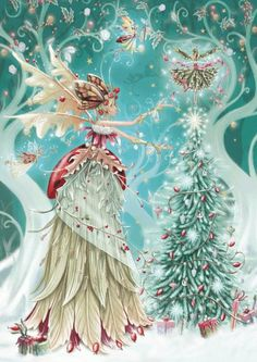 Fairy christmas. Our daughter did a decoupage version of this lovely image for us last Christmas