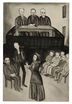 Alice Neel's Unpublished Illustrations of Fyodor Dostoevsky's Brothers Karamazov.