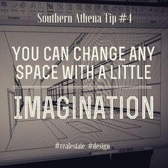 You can change any space with a little imagination. #southernathenatips #thinkoutsidethebox #design #realtor #realestate #Architecture #Nashville #modeling