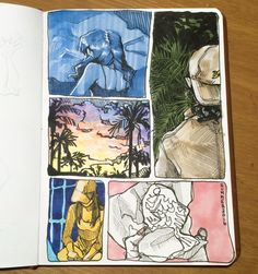 An art journal page from today about my summer.