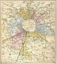Mappa Milano 1873 #storia #mappa